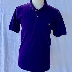 Lacoste Purple knit Polo Shirt. Size 7 (US XL).